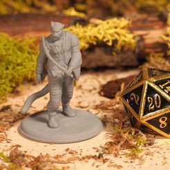 Download free 3D printer templates Tabaxi Sailor - Tabletop Miniature, M3DM