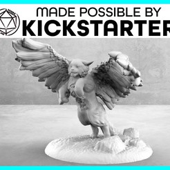 Tressym_Action_Ad_Graphic-01-01.jpg Download free STL file Tressym - Action Pose - Tabletop Miniature • 3D printable model, M3DM