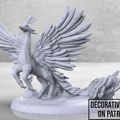 Peacock_Griffin-01.jpg Download free STL file Peacock Griffin - Tabletop Miniature • 3D print design, M3DM