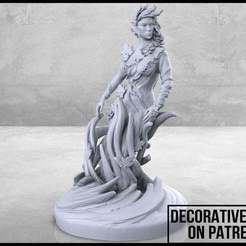 Dryad-01-01.jpg Download free STL file Dryad - Tabletop Miniature • 3D print template, M3DM