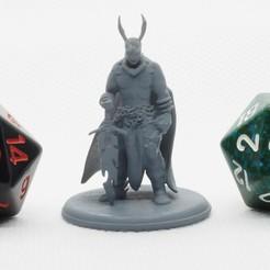 Demonic_Warrior_1.JPG Download free STL file Demonic Warrior - Tabletop Miniature • 3D printing design, M3DM