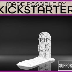 Download free 3D printer files Tombstone - Tabletop Scatter Terrain, M3DM