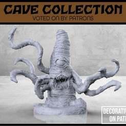 Descargar archivos STL gratis Monstruo de la Roca de los Tentáculos - Miniatura de mesa, M3DM