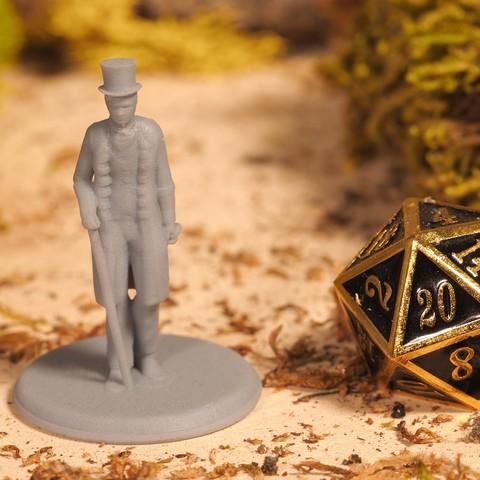 Descargar diseños 3D gratis Victorian Gentleman - Miniatura de sobremesa, M3DM