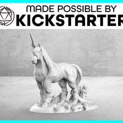 Download free 3D printing designs Unicorn - Casual Pose - Tabletop Miniature, M3DM