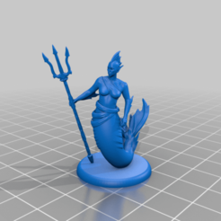 Female_Merfolk_-_Simple_Base.png Télécharger fichier STL gratuit Femme Merfolk - Miniature de table • Design imprimable en 3D, M3DM