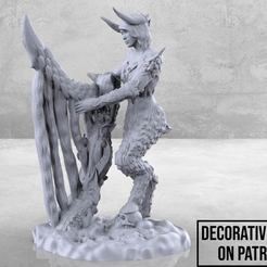 Monster_Queen_Thingiverse-01.jpg Download free STL file Monster Queen - Tabletop Miniature • 3D printer object, M3DM
