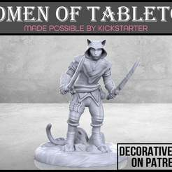 Catfolk_Rogue_1-01.jpg Download free STL file Catfolk Rogue - Tabletop Miniature • Model to 3D print, M3DM