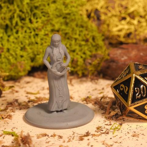 Télécharger objet 3D gratuit Demi-Elf Barde - Miniature de table, M3DM