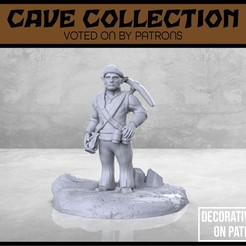 Cave_Gnome_Miner_1-V1-01.jpg Download free STL file Cave Gnome Miner - Version 1 - Tabletop Miniature • 3D printable object, M3DM