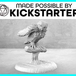Owl_Action_Ad_Graphic-01.jpg Download free STL file Owl - Action Pose - Tabletop Miniature • 3D print template, M3DM