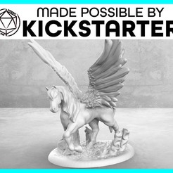 Download free 3D printer designs Pegasus - Casual Pose - Tabletop Miniature, M3DM