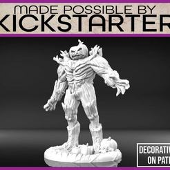 Jack_1-01.jpg Download free STL file Jack O' Lantern Golem - Tabletop Miniature • 3D print design, M3DM