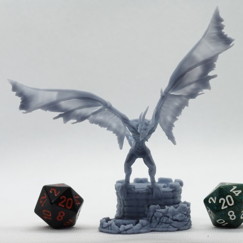 Plan imprimante 3D Wyvern Morts-Vivants - Miniature de table, M3DM