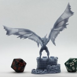 Télécharger plan imprimante 3D Wyvern Morts-Vivants - Miniature de table, M3DM