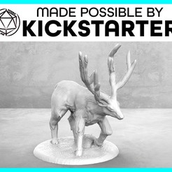 Stag_Action_Ad_Graphic-01.jpg Download free STL file Stag - Action Pose - Tabletop Miniature • 3D printable model, M3DM