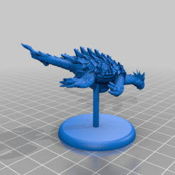 Dragon_Turtle_-_Simple_Base.png Download free STL file Dragon Turtle - Tabletop Miniature • 3D print design, M3DM