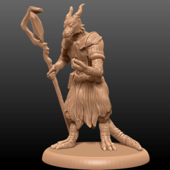 Download free 3D print files Kobold Wizard - Tabletop Miniature, M3DM