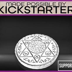 Summoning_Circle-01.jpg Download free STL file Summoning Circe - Tabletop Scatter Terrain • 3D printer design, M3DM