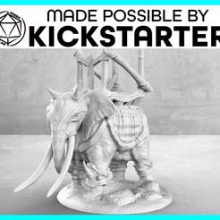 Descargar archivos 3D gratis Elefante de la guerra - Posa casual - Miniatura de mesa, M3DM