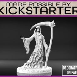 Download free 3D printing models Grim Reaper - Tabletop Miniature, M3DM