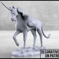 Unicorn_1-01.jpg Download free STL file Unicorn - Tabletop Miniature • Model to 3D print, M3DM