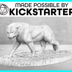 Download free 3D print files Panther - Action Pose - Tabletop Miniature, M3DM