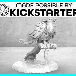 Imprimir en 3D gratis Phoenix - Pose de acción - Tabletop Miniatura, M3DM