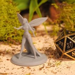 Fey Goddess (1).JPG Télécharger fichier STL gratuit Fey Goddess - Miniature de table • Plan pour imprimante 3D, M3DM
