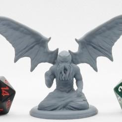 Imprimir en 3D gratis Cthulhu alado - Miniatura de mesa, M3DM