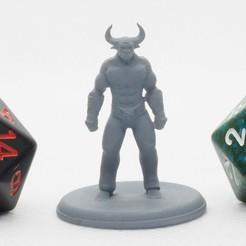 Imprimir en 3D gratis Minotauro - Miniatura de mesa, M3DM