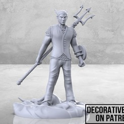 Thingiverse_Ad_1-01.jpg Download free STL file Demon Cleric - Tabletop Miniature • 3D print object, M3DM