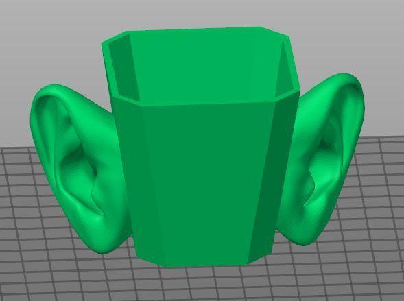 2usak.jpg Download free STL file eared cup • 3D printable template, georgek