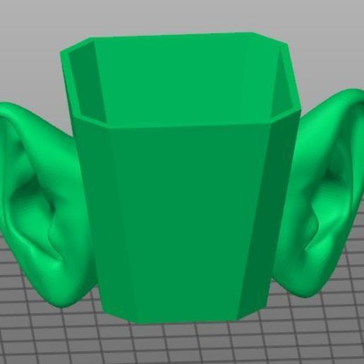 Download free STL file eared cup, georgek
