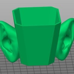Télécharger fichier STL gratuit tasse à oreille • Objet à imprimer en 3D, georgek