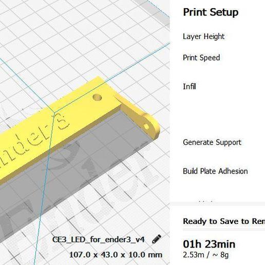 Télécharger fichier imprimante 3D gratuit Support de LED pour l'éclairage ENDER 3, georgek