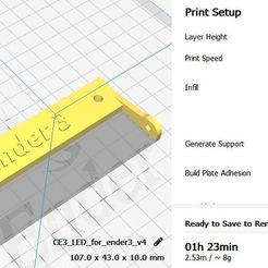 Download free STL file LED holder for lighting ENDER 3, georgek