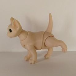 Download 3D printer designs Kitten BJD, leykinaea