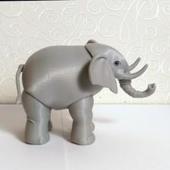 Descargar archivos STL Elefante BJD, leykinaea