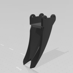 pic 2 dents.png Download STL file huina 580 2 tooth rake bucket • 3D print object, Infinite3DPrints