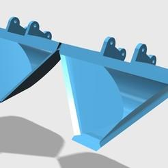 3D print model Huina 580 Excavator bucket, Broob