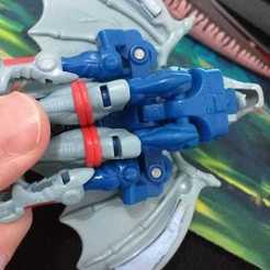 Swords on toy 02.jpeg Download free STL file  BW Transformers Optimus Primal Bat Swords • 3D printable object, sacerdotepaladino