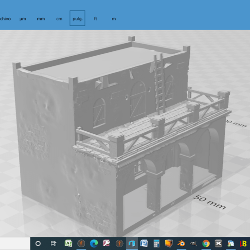 2020-08-31.png Descargar archivo STL gratis Casa - Chalet rustica para dioramas Belenes • Modelo para imprimir en 3D, javherre