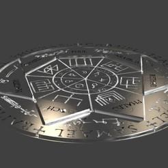 sello de los 7 arcangeles.jpg Télécharger fichier STL gratuit Sceau des 7 Archanges • Modèle pour impression 3D, javherre