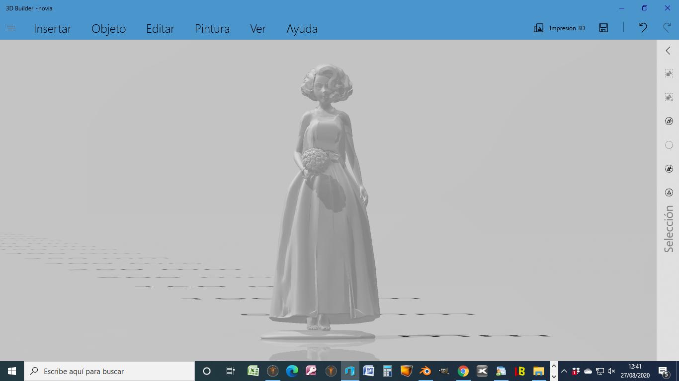 2020-08-27 (2).png Descargar archivo STL Novia Anime para acompañar a tarta de bodas • Modelo imprimible en 3D, javherre