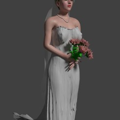 novia palabra honor con flores.jpg Download STL file Bride to accompany wedding cake • 3D printable object, javherre