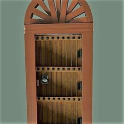 Download free STL Antique wooden door with arch, javherre