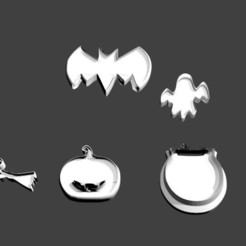 5 cortagalletas halloween gratis.jpg Download free STL file 5 Free Halloween Cookie Cutters • 3D printing model, javherre