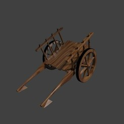 carro.jpg Download free STL file Wooden trolley for horses • 3D printing model, javherre