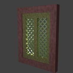 ventana celosia.png Download free STL file Wooden window with latticework • 3D printing object, javherre